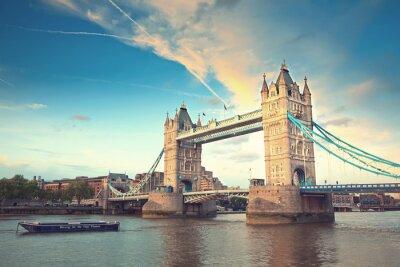 Наклейка Тауэрский мост на закате, Лондон