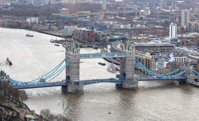 Наклейка Тауэрский мост на реке Темзе в Лондоне