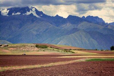 Наклейка Трактор в поле, Куско, Перу