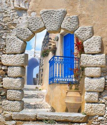 Наклейка Traditional architecture of Oia village on Santorini island, Gre