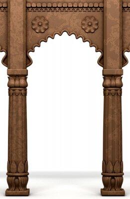 Наклейка Традиционная индийская столба дуги