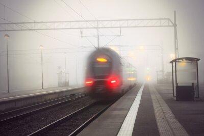Наклейка Поезд оставление станция