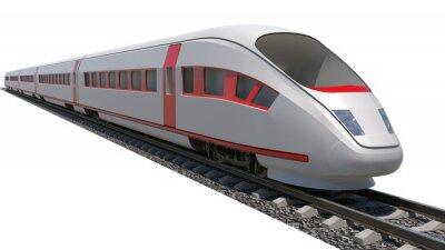 Наклейка Поезд на белом фоне