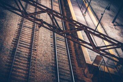 Наклейка Железнодорожная станция Ночь