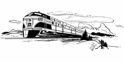 Наклейка Путешествие на поезде
