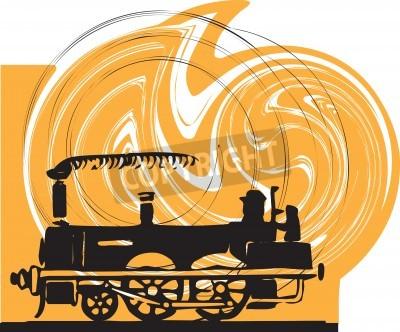 Наклейка Поезд. Вектор