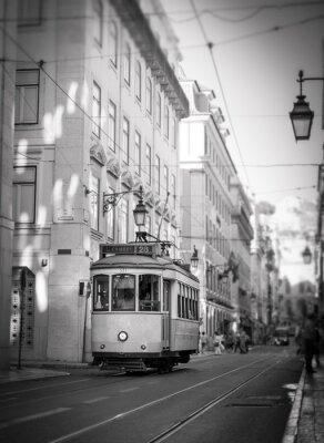 Наклейка Трамвай в Лиссабоне, ретро