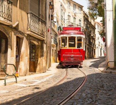 Наклейка Трамвай на улице