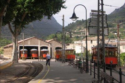 Наклейка Трамваи в сараях Сольер Майорка Испания