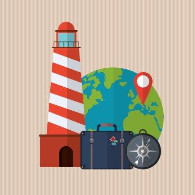 Наклейка Дизайн Путешествия значок