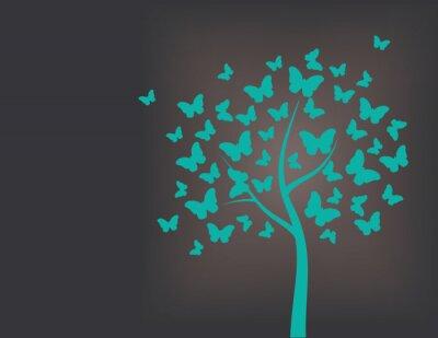 Наклейка Дерево из бабочек