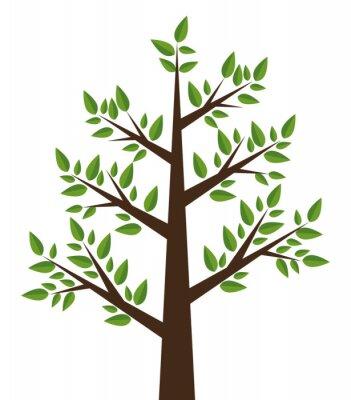 Наклейка дизайн дерева завод