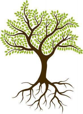 Наклейка силуэт дерева