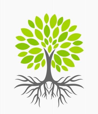Наклейка Дерево с корнями