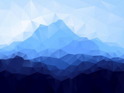 Наклейка Треугольник геометрический фон с синим горы