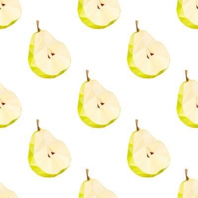Наклейка Треугольник многоугольной груша векторные иллюстрации. Сочные фрукты.