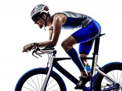 Наклейка триатлон железный человек спортсмен велосипедист Велосипед