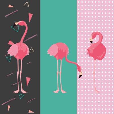 Наклейка тропический фламинго дизайн