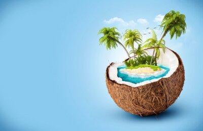 Наклейка тропический остров