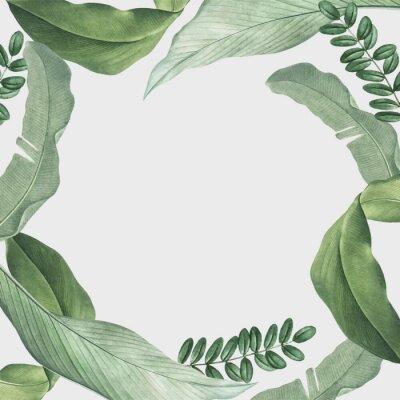Наклейка Tropical leaves frame