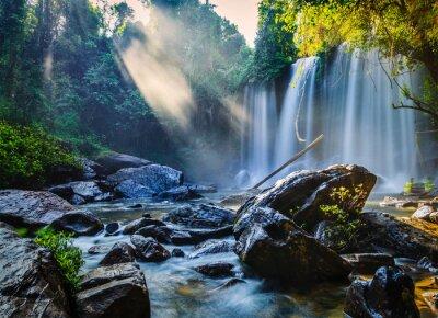 Наклейка Тропический водопад