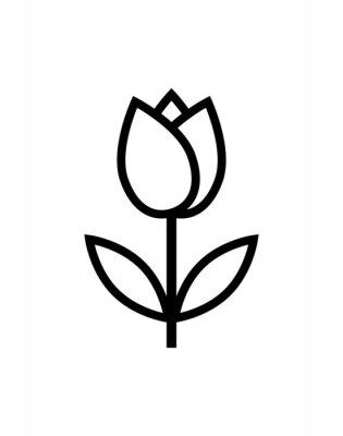 Наклейка значок тюльпана цветок