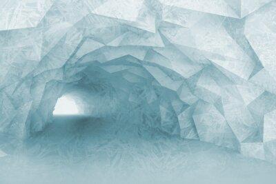 Наклейка Включение светло-голубой интерьер туннеля с кристаллическим рельефом