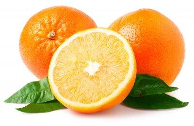 Наклейка Два апельсины на белом