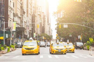 Наклейка Типичный желтое такси в Нью-Йорке