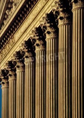 Наклейка Верховный суд США Строительство фасад и колонны