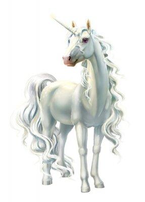 Наклейка unicorn, full-length isolated on white