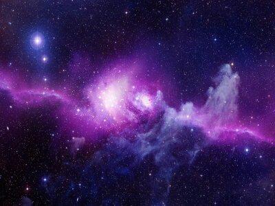 Наклейка Вселенная заполнена звездами, туманности и галактики