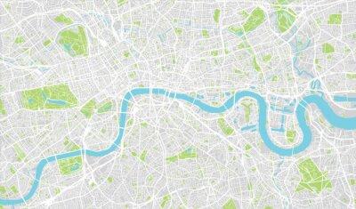 Наклейка Городской карта города Лондон, Англия