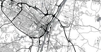 Наклейка Urban vector city map of Albany, USA. New York state capital