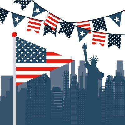 Наклейка США, эмблема
