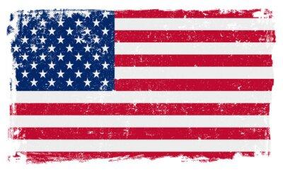 Наклейка Флаг США в векторном формате