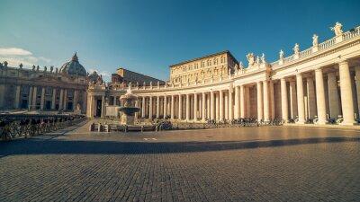 Наклейка Ватикан и Рим, Италия: Площадь Святого Петра