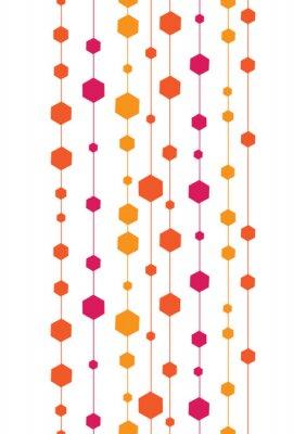 Наклейка вектор абстрактные красочные полосы и формирует вертикальную бесшовные