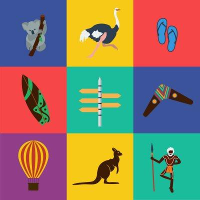 Наклейка Вектор Австралии одноцветные