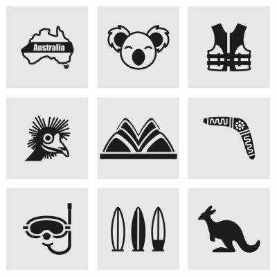 Наклейка Вектор Австралия набор иконок