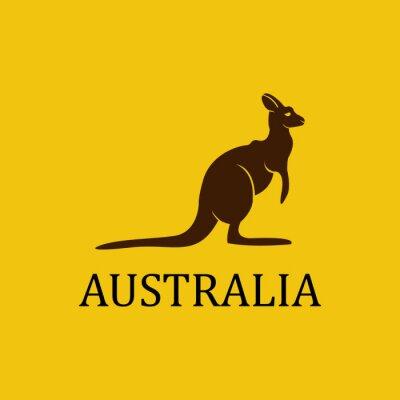 Наклейка Вектор Австралии кенгуру