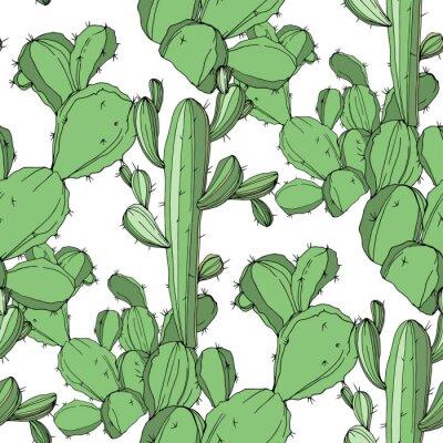 Наклейка Зеленые гравированные чернила art.Seamless фоновый узор. Тканевые обои с текстурой печати.