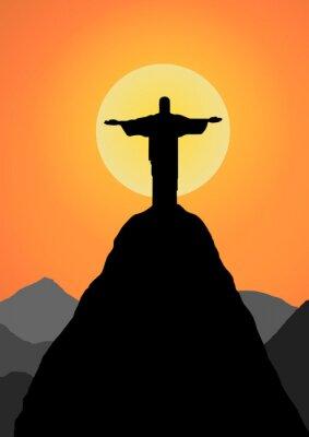 Наклейка Вектор: Христос Искупитель фон вектор