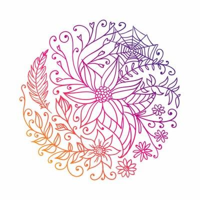 Наклейка Векторная иллюстрация абстрактного декоративного Круг