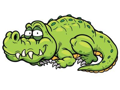 Наклейка Vector illustration of Cartoon crocodile