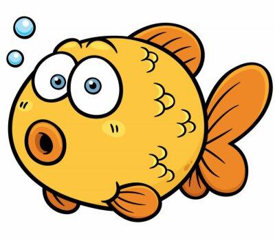 Наклейка Векторная иллюстрация Золотая рыбка