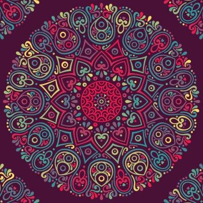 Наклейка Вектор индийский Mandala