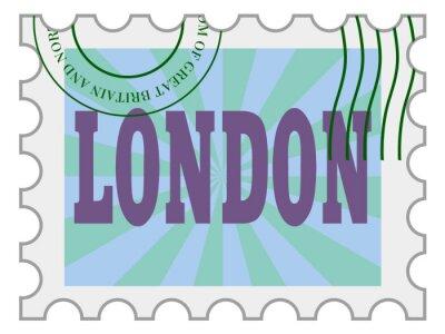 Наклейка вектор, почтовая марка Лондона