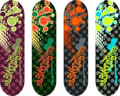 Наклейка Вектор скейтборд дизайн пакет с граффити теги и абстрактные фигуры