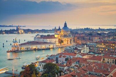 Наклейка Венеция. Вид с воздуха на Венецию с Базилика Санта-Мария-делла-Салюте, взятой из Campanile Святого Марка.
